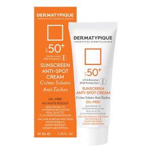 کرم ضد آفتاب بی رنگ روشن کننده درماتیپیک +SPF50