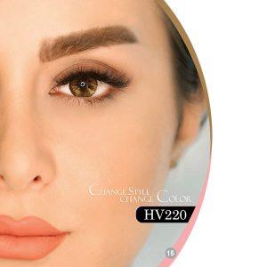 لنز چشم سالانه هرا رنگ قهوه ای دور دار شماره HV220