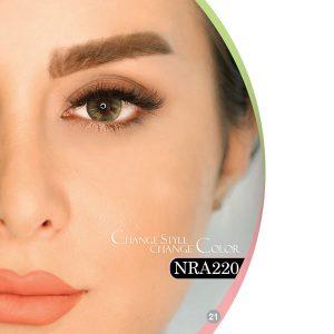 لنز چشم فصلی هرا رنگ طوسی سبز دور دار شماره NRA220